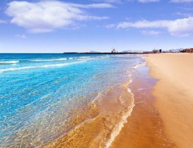 Het strand bij Gandia