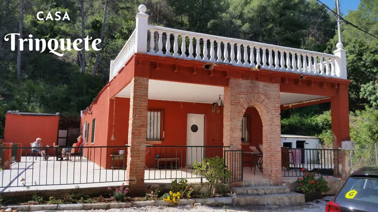 Terras vakantiehuisje in de natuur valencia